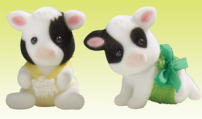 Buttercup Friesian Cow Twins