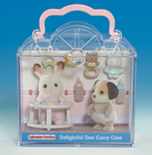 Duo Carry Case Rabbit & Dog