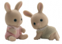 Periwinkle Rabbit Twin Babies