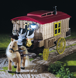 Sylvanian Family Caravan and Pony