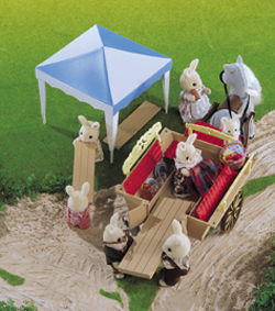 Sylvanian Family Pony and Trap